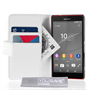 Yousave Accessories Sony Xperia Z4 Compact Leather-Effect Wallet Case - White