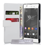 Yousave Accessories Sony Xperia Z3+ Leather-Effect Wallet Case - White