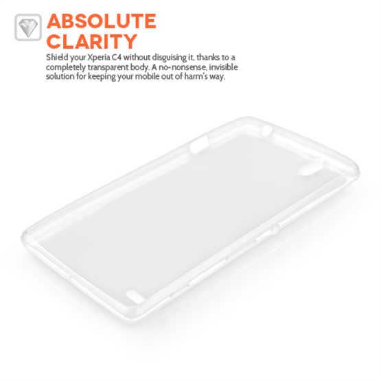 Yousave Accessories Sony Xperia C4 0.6Mm Clear Gel Case