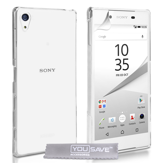 Yousave Accessories Sony Xperia Z5 Hard Case - Crystal Clear