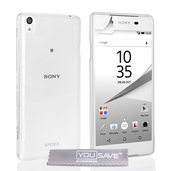 Yousave Accessories Sony Xperia Z5 Compact Silicone Gel Case - Clear