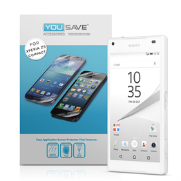 Yousave Accessories Sony Xperia Z5 Compact Screen Protectors - 5 Pack