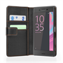 Yousave Accessories Sony Xperia X Leather-Effect Wallet Case - Black