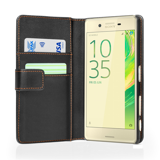 YouSave Accessories Sony Xperia X Performance Leather-Effect Wallet Case - Black