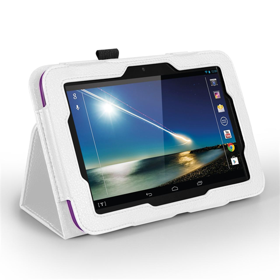 Yousave Accessories Tesco Hudl PU Leather Case White Case