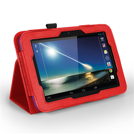 Yousave Accessories Tesco Hudl PU Leather Case Red Case