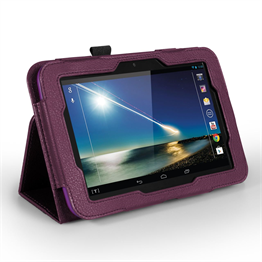 Yousave Accessories Tesco Hudl PU Leather Case Purple Case