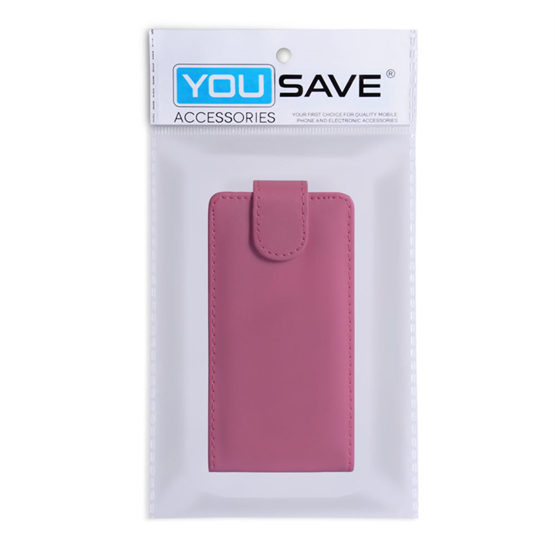 Yousave Accessories Sony Xperia Z Trade PU Flip Hot Pink Case