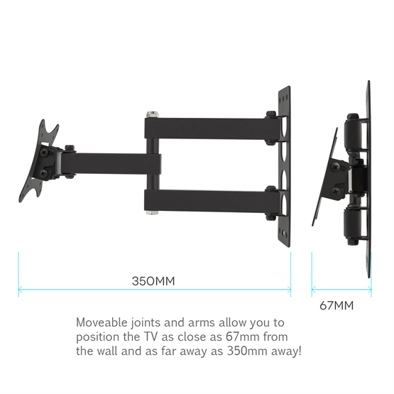 Yousave Accessories Slim Cantilever TV Wall Mount 10
