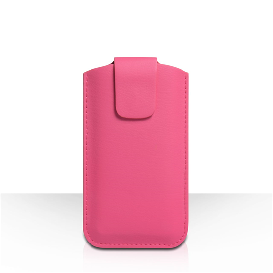 Yousave Accessories Hot Pink Lichee PU Leather Pouch (M)