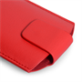 Yousave Accessories Red Lichee PU Leather Pouch (M)