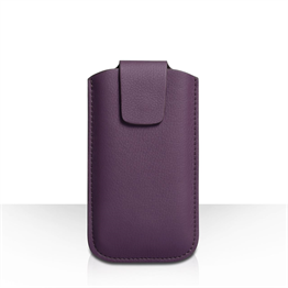 Yousave Accessories Purple Lichee PU Leather Pouch (M)