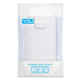 Yousave Accessories White Lichee PU Leather Pouch (L)
