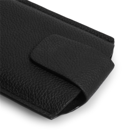 Yousave Accessories Black Real Leather Lichee Tab Pouch (S)